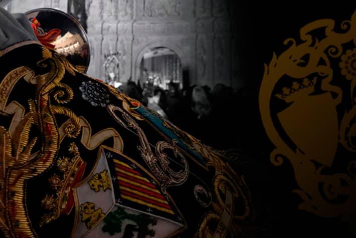 muestra mantolín de la cornetería de la Agrupación Musical Virgen de la Vega de Salamanca
